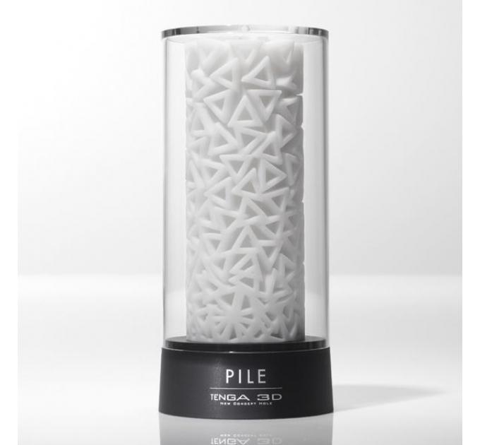 Мастурбатор Tenga 3D Pile, очень нежный, из антибактериального эластомера с серебром