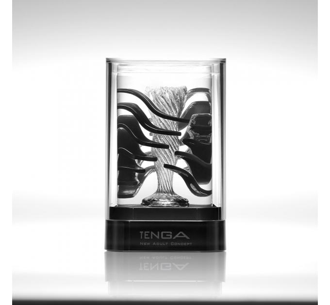 Мастурбатор TENGA Crysta Leaf, уникальный рельеф, стимулирующие лепестки, прозрачный материал