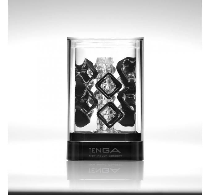 Мастурбатор TENGA Crysta Block, уникальный рельеф, стимулирующие плотные блоки, прозрачный материал