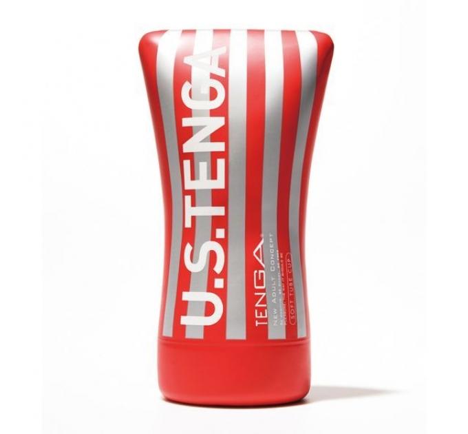 Мастурбатор Tenga US Soft Tube Cup (мягкая подушечка большая) сдавливаемая
