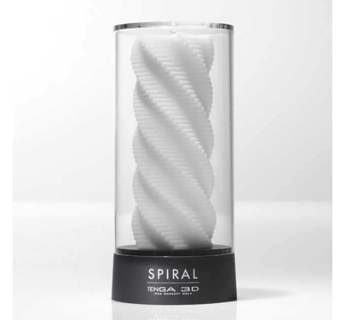 Мастурбатор Tenga 3D Spiral, очень нежный, из антибактериального эластомера с серебром