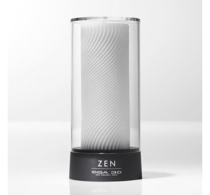 Мастурбатор Tenga 3D Zen, очень нежный, из антибактериального эластомера с серебром