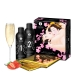 Гель для NURU массажа Shunga Oriental Body-to-Body - Sparkling Strawberry Wine плюс простыня