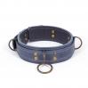 Премиум ошейник LOVECRAFT размер M голубой, натуральная кожа, в подарочной упаковке