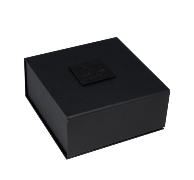 Премиум ошейник LOVECRAFT размер S черный, натуральная кожа, в подарочной упаковке