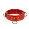 Премиум ошейник LOVECRAFT размер M красный, натуральная кожа, в подарочной упаковке