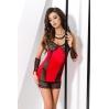 Сорочка приталенная с чашечкой RODOS CHEMISE red L/XL - Passion Exclusive, трусики