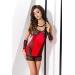 Сорочка приталенная с чашечкой RODOS CHEMISE red S/M - Passion Exclusive, трусики