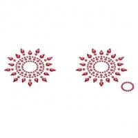 Пэстис из кристаллов Petits Joujoux Gloria set of 2 - Red, украшение на грудь