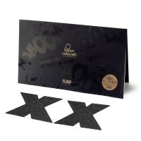 Пэстис - стикини Bijoux Indiscrets - Flash Cross Black, наклейки на соски