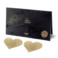 Пэстис - стикини Bijoux Indiscrets - Flash Heart Gold, наклеки на соски