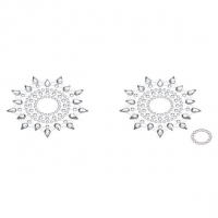 Пэстис из кристаллов Petits Joujoux Gloria set of 2 - Silver, украшение на грудь