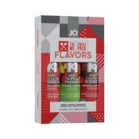 Набор System JO Tri-Me Triple Pack - Flavors (3 х 30 мл) три разных вкуса оральных смазок