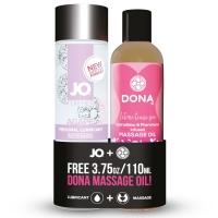 Набор смазка плюс массажный гель бесплатно System JO Agape (120 мл) + DONA Flirty Massage (110 мл)