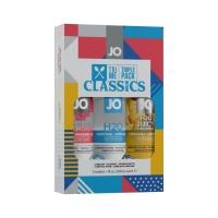 Набор System JO Tri-Me Triple Pack - Classics (3 х 30 мл) водная, силиконовая и вкусовая смазки