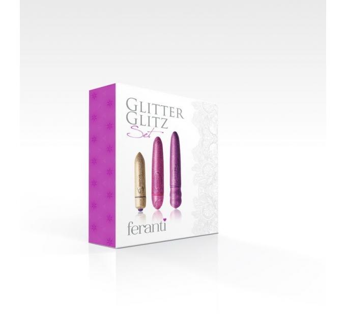 Набор вибраторов Rocks Off Feranti - Glitter Glitz (3 вибратора разных размеров)