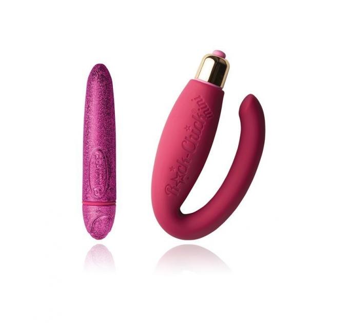 Вибронабор Rocks Off Feranti - Pretty in Pink (вибропуля и вибратор для пар)