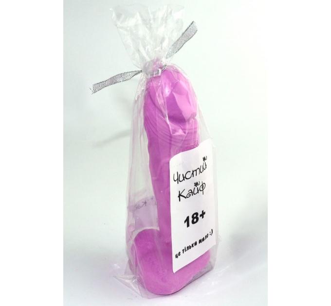 Крафтовое мыло-член с присоской Чистый Кайф Violet size L натуральное