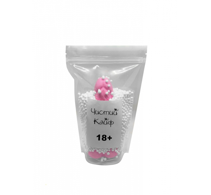 Крафтовое мыло-член с присоской Чистый Кайф Pink size L натуральное