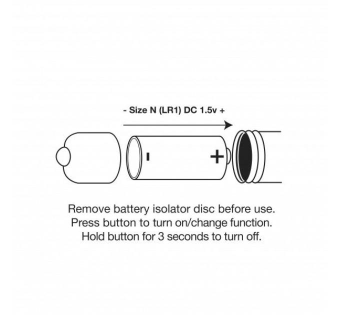 Анальный вибростимулятор Rocks Off Butt Quiver Black, стимуляция простаты, макс. диаметр 4,3см