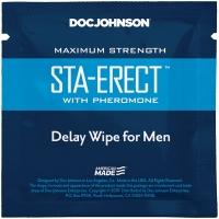 Пролонгирующая салфетка Doc Johnson Sta-Erect Delay Wipe For Men с феромонами