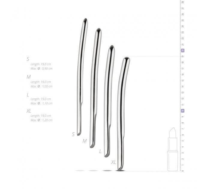 Набор уретральных стимуляторов Sinner Gear Unbendable - Single Ended 4 шт, диаметры 9,10,11,12 мм
