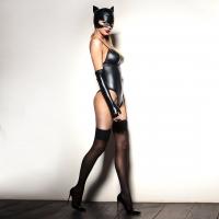 """Сексуальная маска """"Кошечка"""" под латекс, эластичная"""