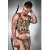 Мужской эротический костюм охотника Passion 023 SET XXL/XXXL: леопардовая маечка и стринги