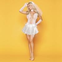 Эротическое свадебное платье Развратница Сюзанна S/M