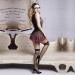"""Эротический костюм школьницы """"Проказница Бэкки"""" S/M, платье, чулки, трусики, галстук, очки, ленты"""