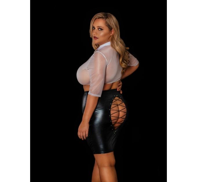 """Эротический костюм учительницы """"Строгая Николетта"""" XL, юбка, блузка"""