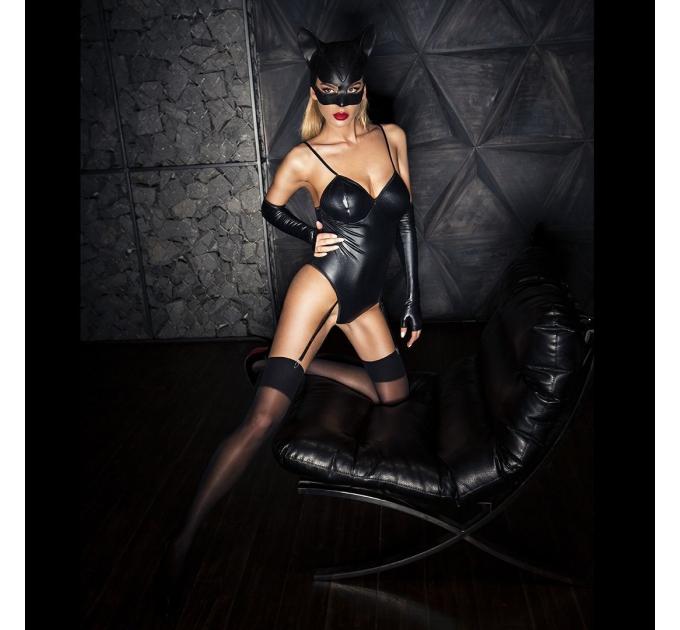 """Эротический костюм кошечки """"Игривая Стефани"""" L, боди, перчатки, без маски"""