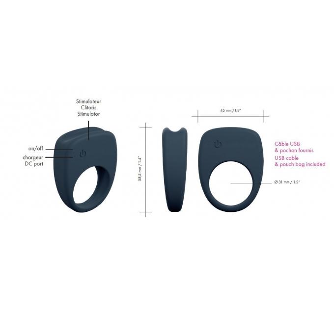 Эрекционное кольцо Dorcel Mastering с вибрацией, презаряжаемое