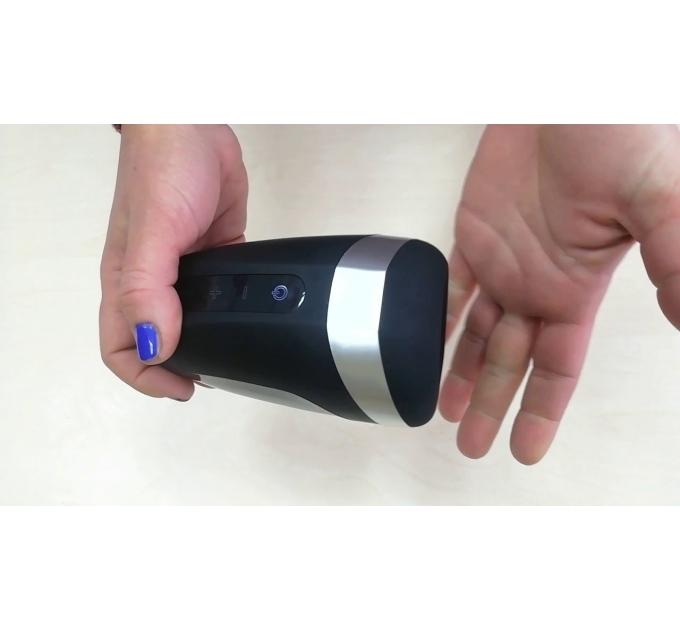 Мастурбатор Satisfyer Men Heat Vibration имитатор минета, подогрев и вибрация, стимуляция головки