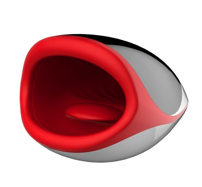 Мастурбатор ротик с язычком Leten Erotic Lips, имитатор минета, с подогревом, голосом, 3 мотора