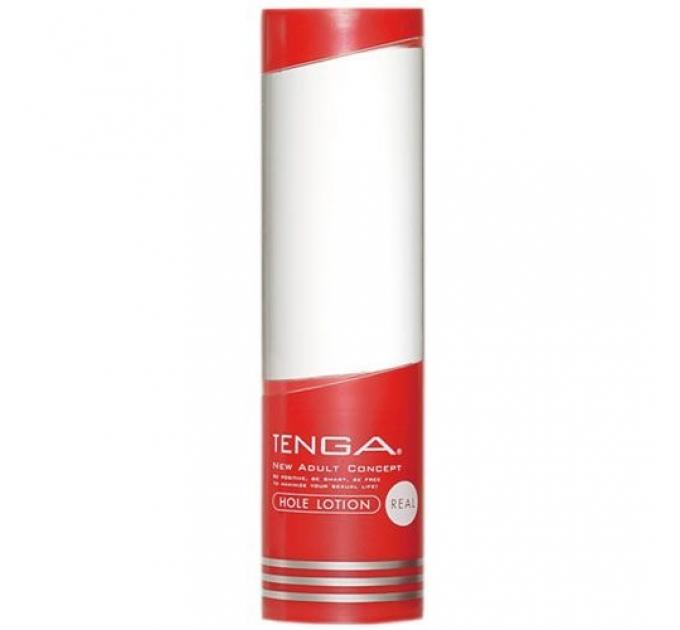 Лубрикант стандартной консистенции Tenga Hole Lotion REAL (170 мл) на водной основе, универсальный