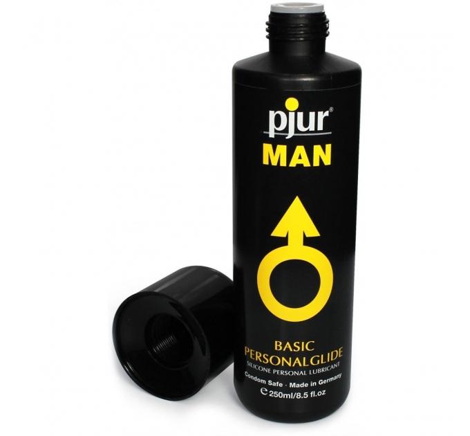 Лубрикант на силиконовой основе pjur MAN Basic personal glide 250 мл с деликатным уходом за кожей