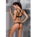 Комплект белья HAGAR SET black S/M - Passion Exclusive: стрэпы: трусики и лиф