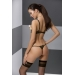 Комплект белья VALERY SET OpenBra black S/M - Passion Exclusive: стрэпы: трусики, открытый лиф