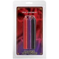 БДСМ свечи низкотемпературные Doc Johnson Japanese Drip Candles - 3 Pack Multi-Colored