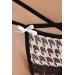 (SALE) Трусики стринги с доступом TALIA THONG black L/XL - Passion Exclusive