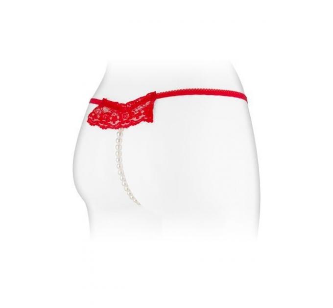 Трусики-стринги с жемчужной ниткой Fashion Secret KATIA Red