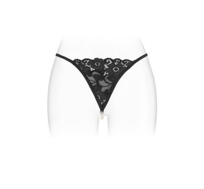 Трусики-стринги с жемчужной ниткой Fashion Secret VENUSINA Black