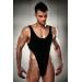 Мужское боди с высоким вырезом бедра Passion 010 BODY black L/XL