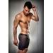 Прозрачные мужские шортики Passion 026 SHORT black S/M