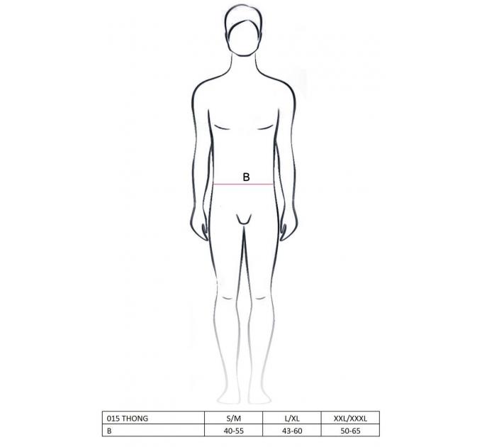 Мужские стринги с блестящим гульфиком Passion 015 THONG silver L/XL