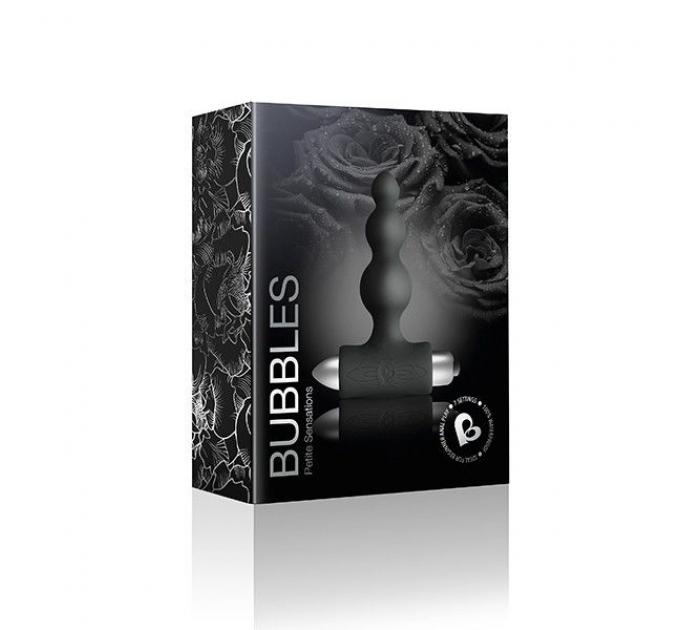 Анальный вибратор Rocks Off Petite Sensations - Bubbles Black