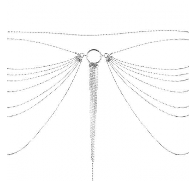 Цепочка трусики или лиф Bijoux Indiscrets Magnifique Waist Chain - silver, украшение на тело