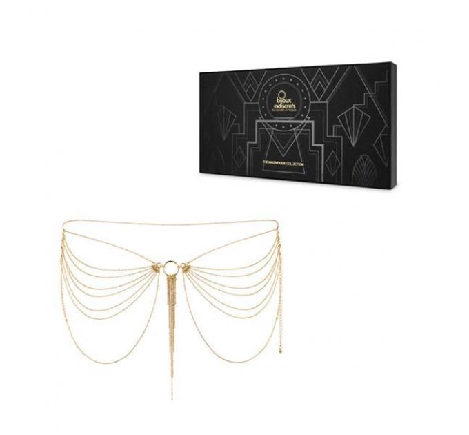 Цепочка трусики или лиф Bijoux Indiscrets MAGNIFIQUE Waist Chain - Gold, украшение на тело