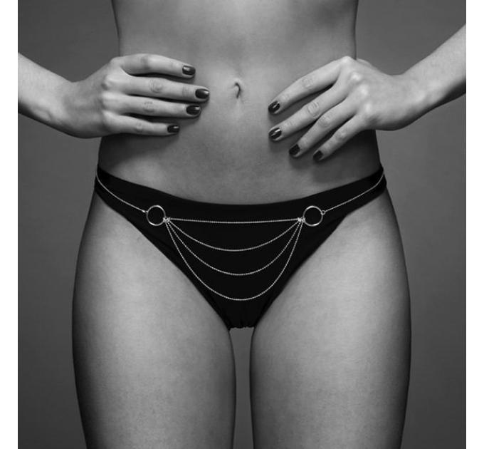 Цепочка трусики Bijoux Indiscrets Magnifique Bikini Chain - Gold, украшение на тело